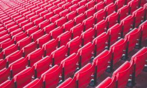 chairs in football stadium