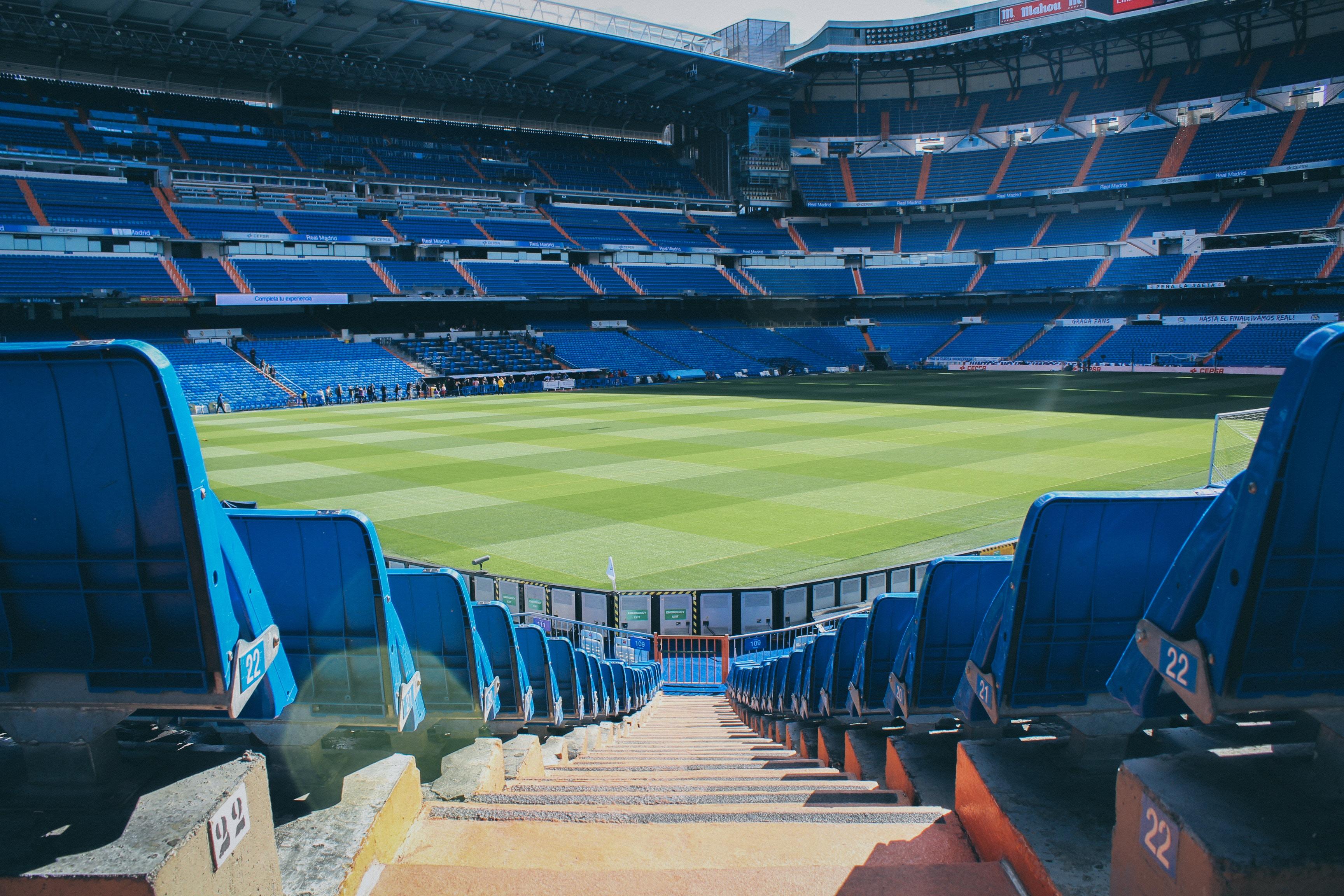 blue football stadium